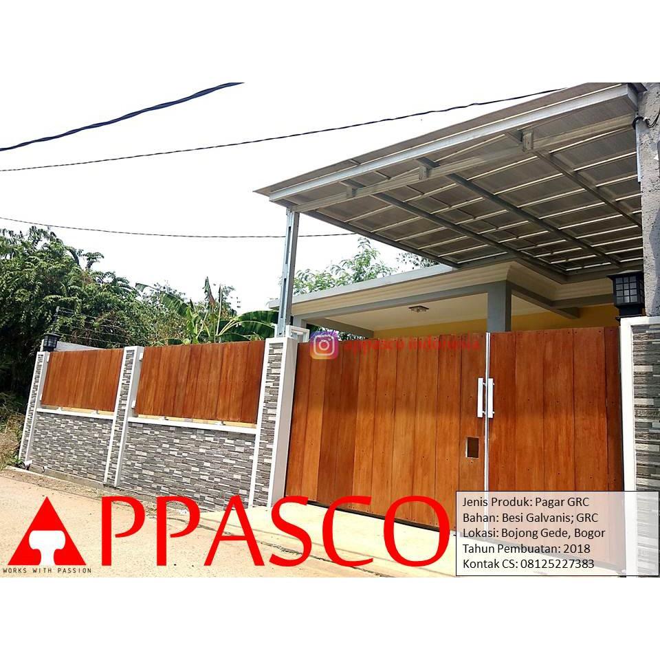 Pagar Minimalis Model Klasik Kayu GRC Dan Besi Galvalum Di Bojong Gede |  Shopee Indonesia