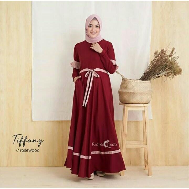 Perbandingan Harga Tiffany Dress Model Baju Gamis Terbaru 2019