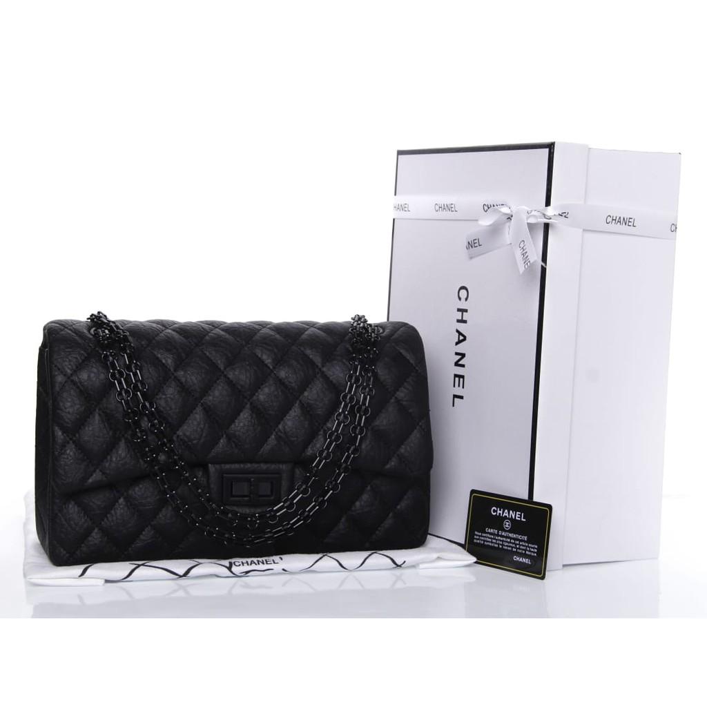 95e81066efb4 Tas Chanel Classic Flap Lambskin Black Hardware Hitam Seprem Box 2017    Shopee Indonesia