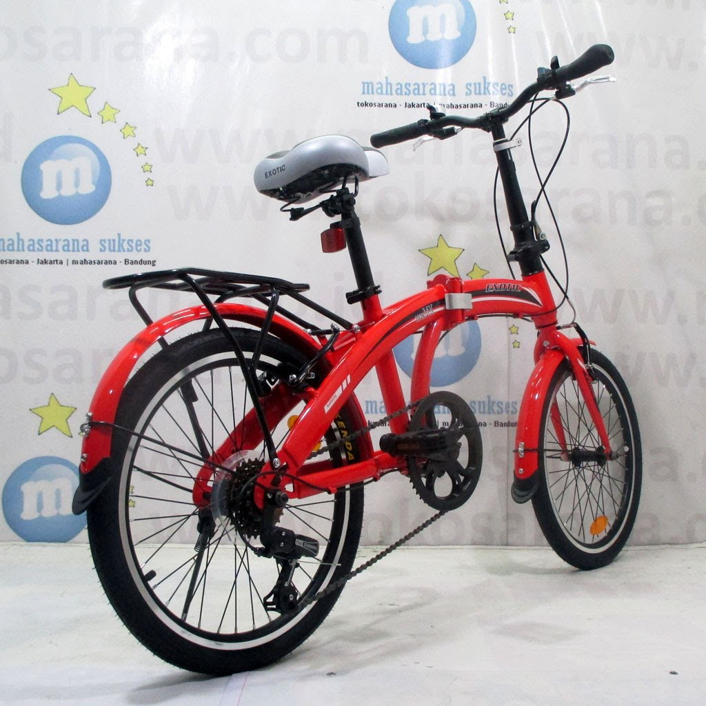 Sepeda Lipat Exotic Et2026mk Fb Remaja Dewasa Rangka Steel 6sp Rem V Brake Folding Bike Shopee Indonesia