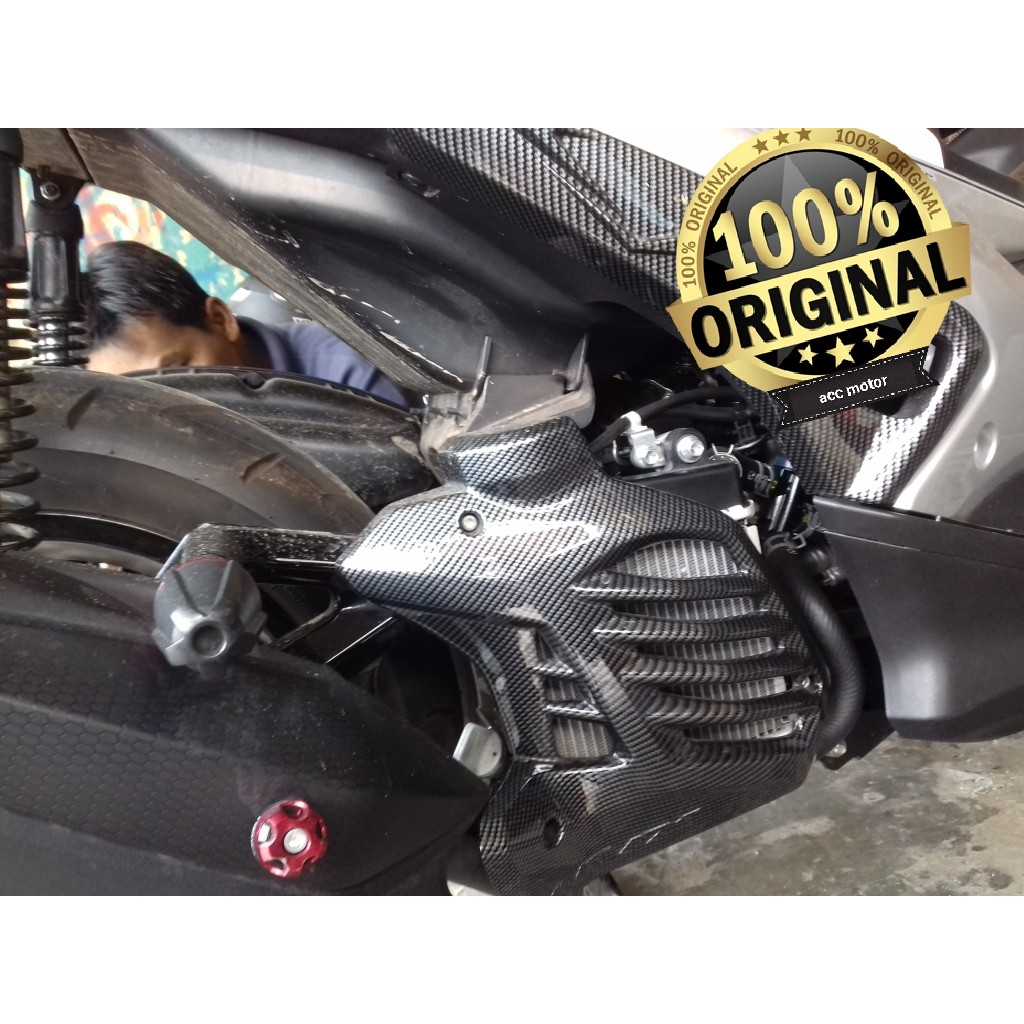 Cover Radiator Aerox155 Yamaha Aerox 155 Tutup Pnp Carbon Terlaris Shopee Indonesia