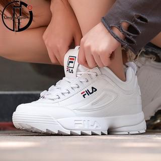 Sepatu Sneakers Casual Wanita Model Fila disruptorii Generation Warna Putih   039803b0fd