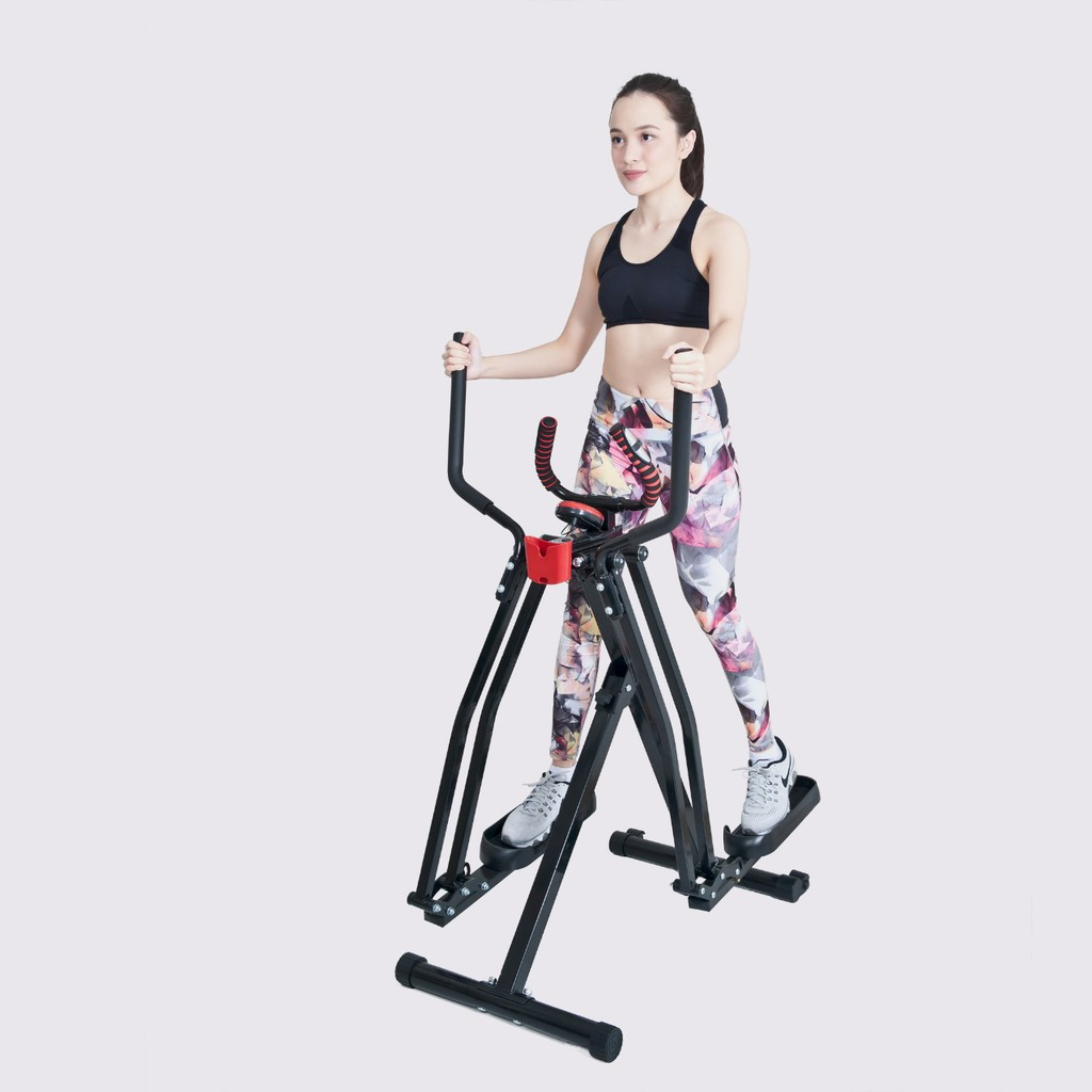 Free ONGKIR' Tersedia! ALAT OLAHRAGA AIR WALKER MULTI Treadmil + eliptical bike [FREE STYLE GLIDER]