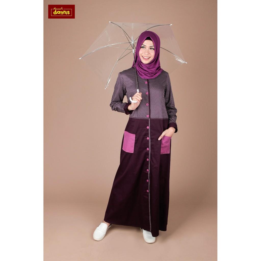 Harga Jual Abaya Dannis Baju Muslim Dewasa Bohemian Stripe 369000