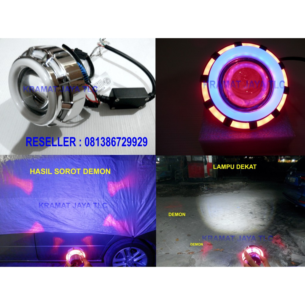 LAMPU TEMBAK LED A01X 30 WATT ANGEL EYES DAN DEVIL RUNNING USB CHARGERS HP | Shopee Indonesia
