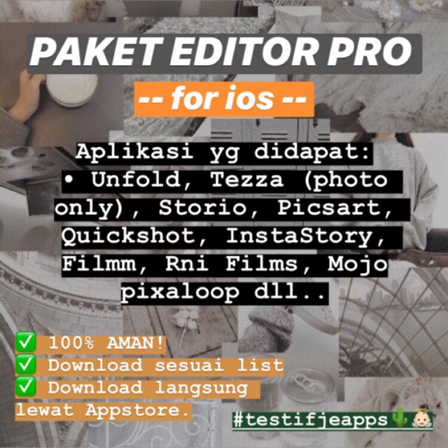 Paket Editor Pro IOS (Tezza, Nichi, StoryArt dll)