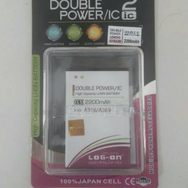 Batre Dobel Power Advan i5/Vandroid i5 4G LTE Baterai/Battery Log On Double Power/2 IC | Shopee Indonesia