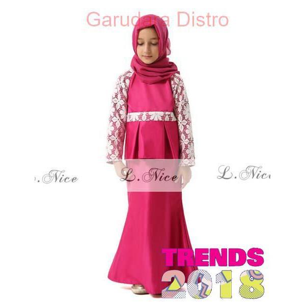 Baju Anak Perempuan Gamis Couple Maxmara Nagita | Baju muslim pasangan ibu anak perempuan Premium |