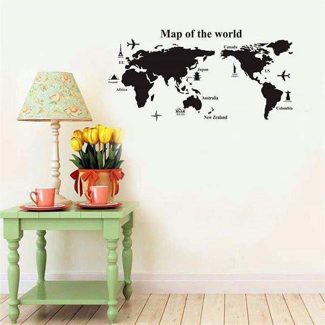 Wallsticker Map Of The World