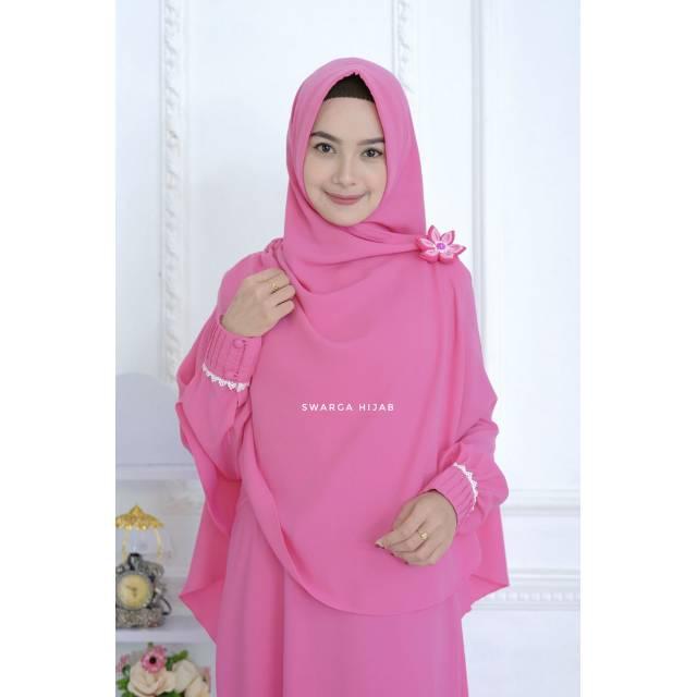 Set Gamis Zahrani By Swarga Hijab Shopee Indonesia