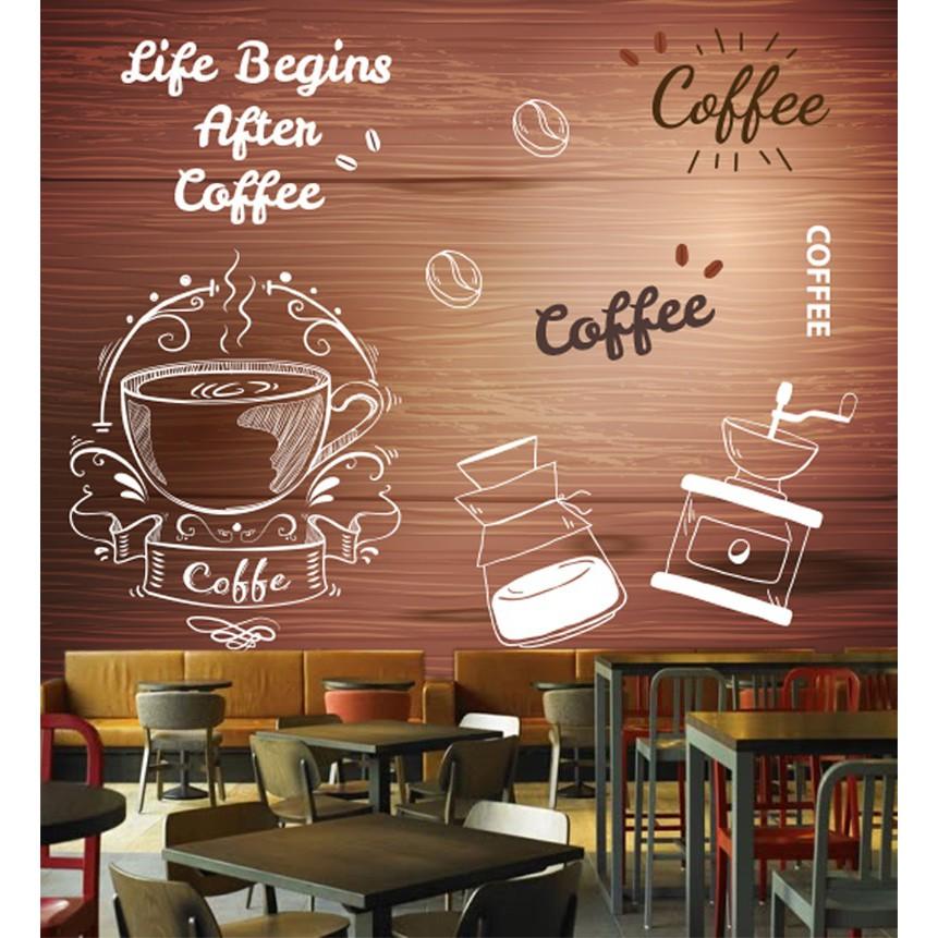 3d Wallpaper Dinding Desain Dinding Cafe