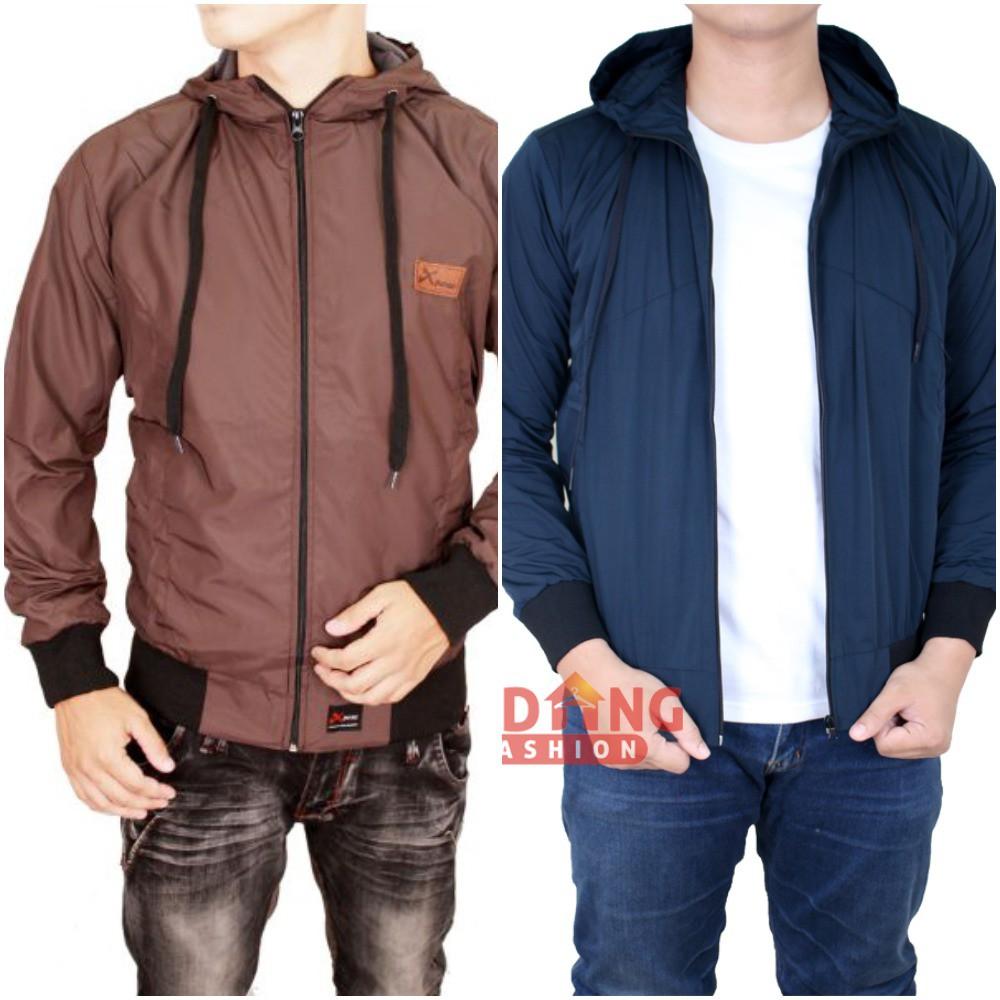 Jaket Untuk Pria Dewasa Semi Kulit Coklat Jak 2089 Shopee Indonesia Parasut Merah 2114
