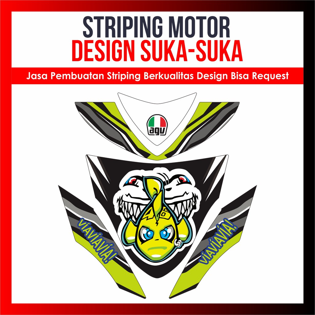 Striping decal variasi nouvo z full body design bisa request shopee indonesia