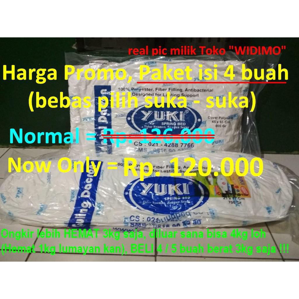 Bantal Guling Dacron Yuki Asli Super 100 Dakron Kesehatan Tidur Shopee Indonesia