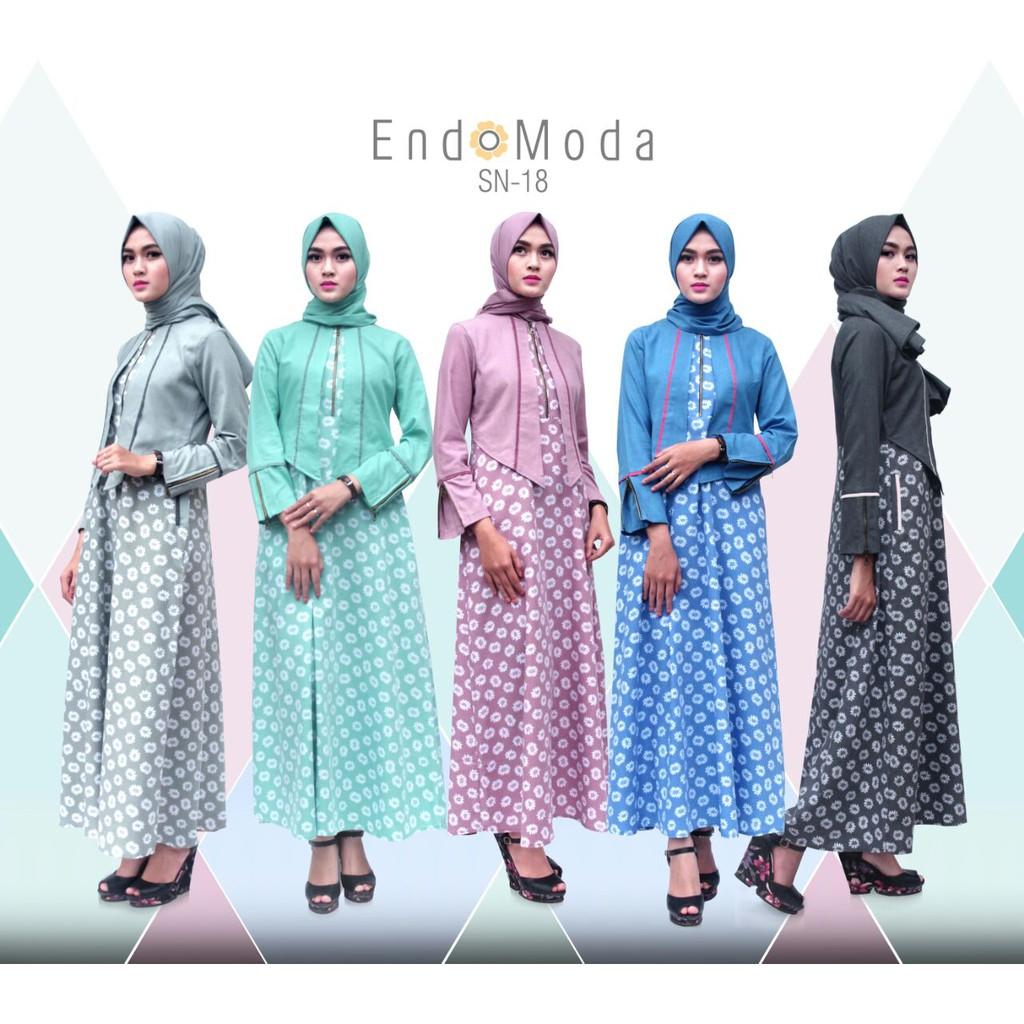 Dress + Pashmina Endomoda SN 18   Gamis + Jilbab  aee0c1cba3