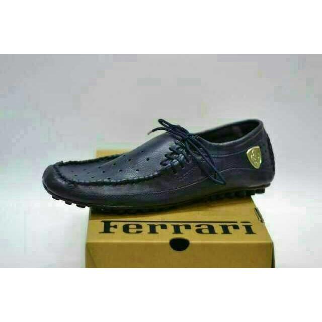 Sepatu casual slop pria Ferrari mewah forma kerja kantor kuliah santai  fcf73ab3c4