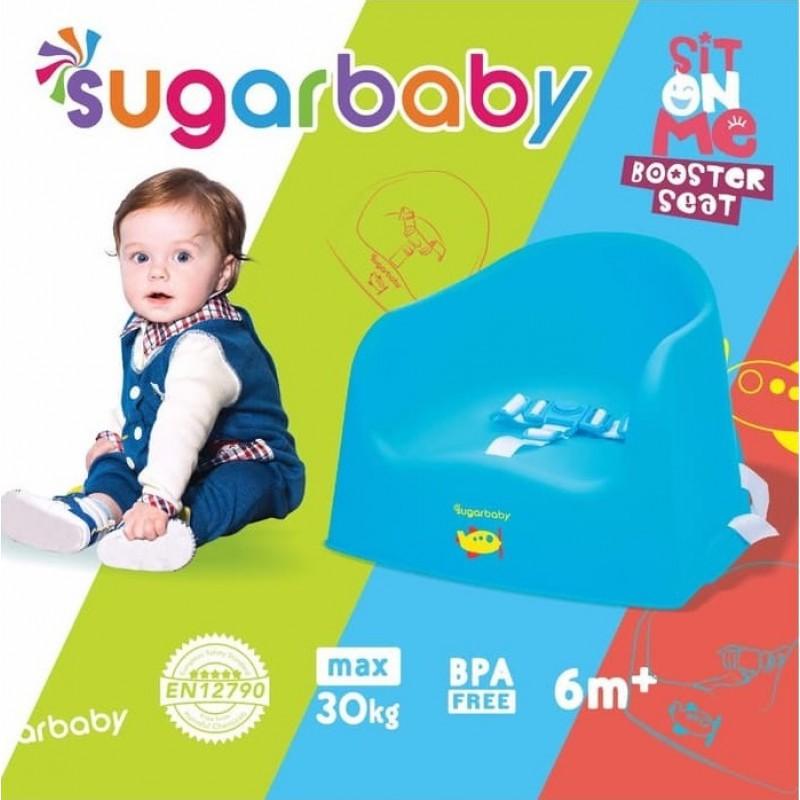 Sugar Baby Sit On Me Booster Seat 6m+ - Blue Aeroplane