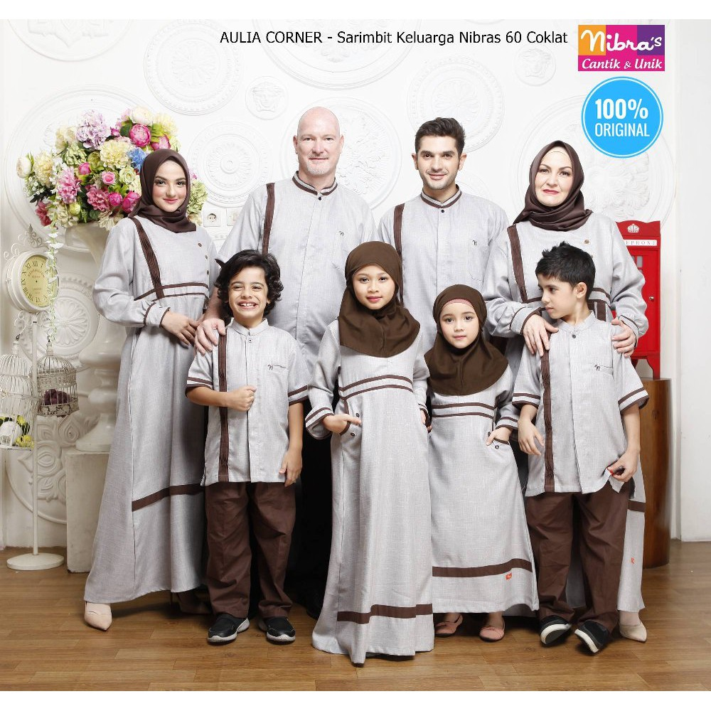 Couple Keluarga Terbaru Modern Sarimbit Terbaru Nibras Sarkel 11 Coklat  ORIGINAL Desain Elegan