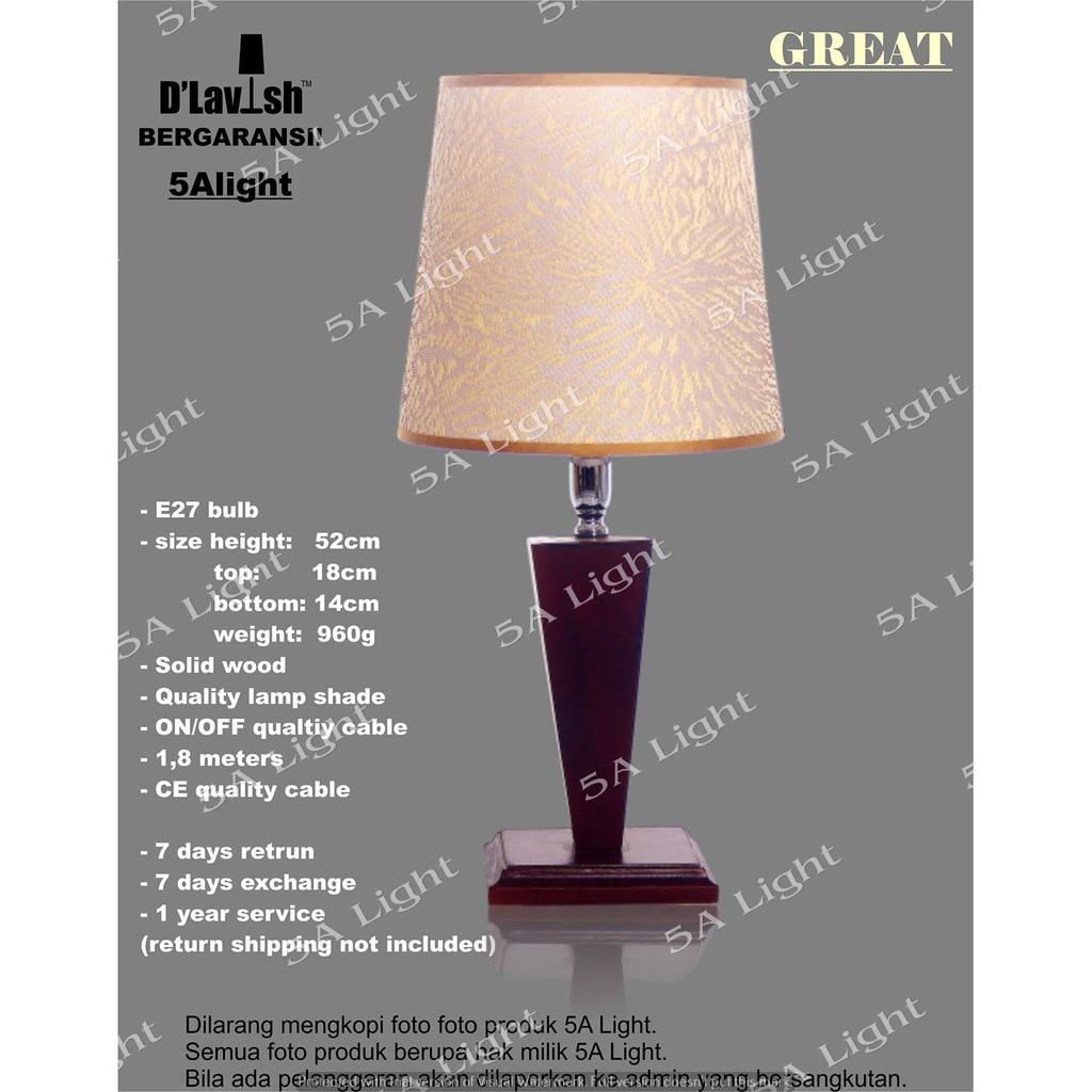 Ikea Lampan Lampu Meja Kamar Hias Minimalis Putih Shopee Indonesia