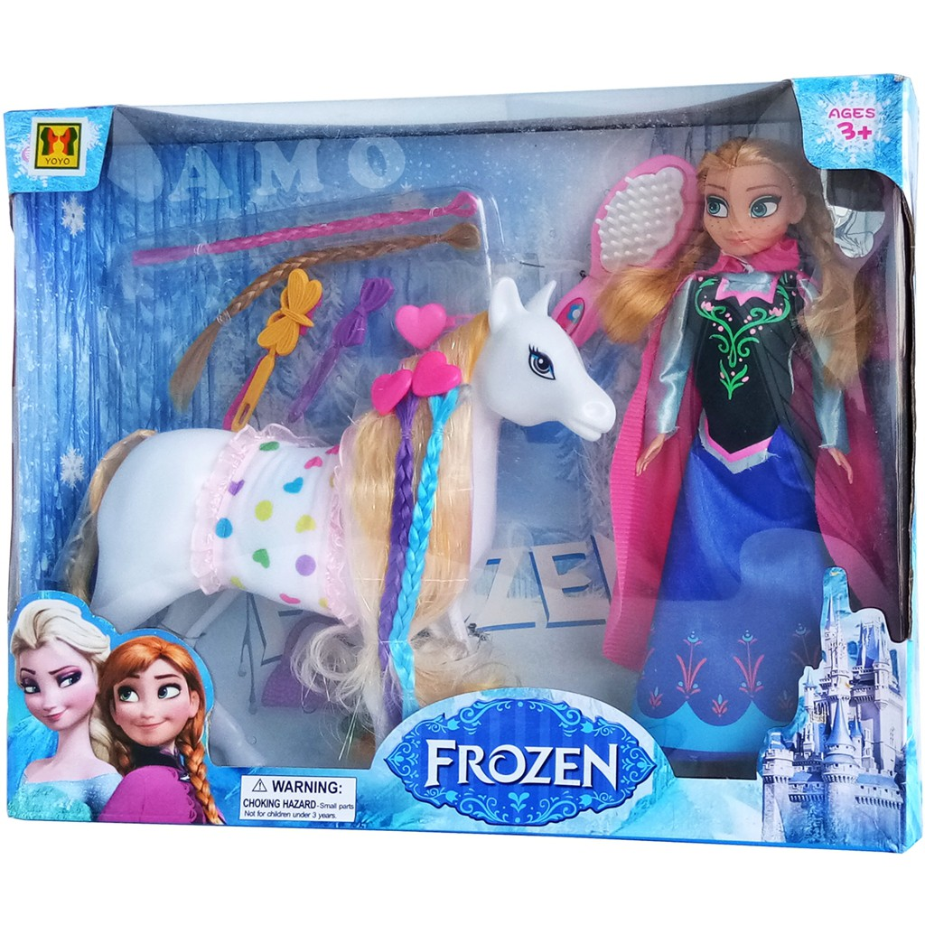 Frozen Anna With Pony Mainan Kuda Pony Boneka Frozen Shopee Indonesia