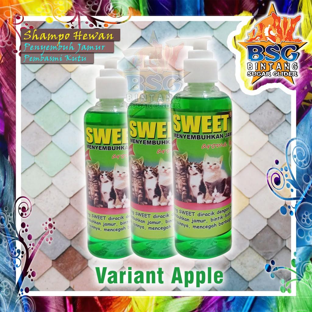Shampo Hewan 250ml - Shampo Kucing - Anjing - Sugar Glider - Kelinci - Penyembuh Jamur dan kutu-Apple