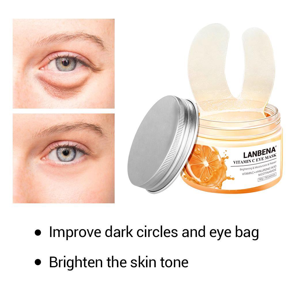 [Bayar Di Tempat]LANBENA Vitamin C Eye Masks 50pcs 3