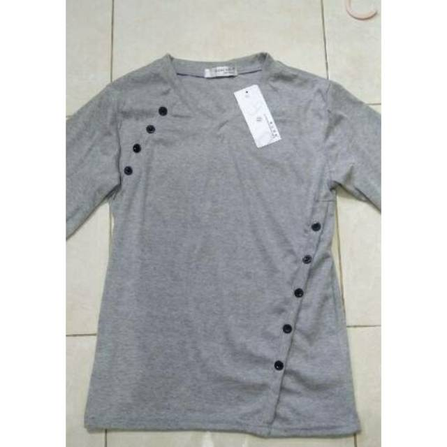 Kaos Fashion Pria : Kerah V Fashion Men's V neck long sleeve T-shirt Trendy
