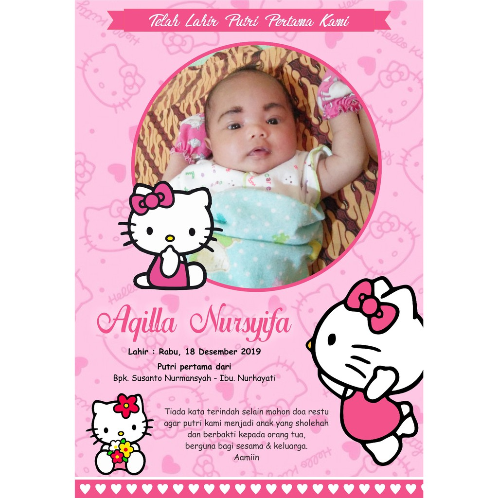 Contoh Pamflet Aqiqah - contoh kartu ucapan
