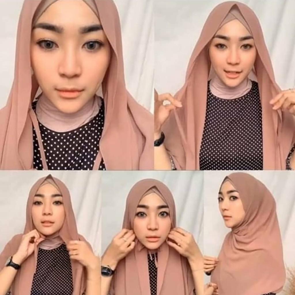 Pashmina Tali Ceruti Baby Doll Pashmina Instan Sabyan Shopee Indonesia