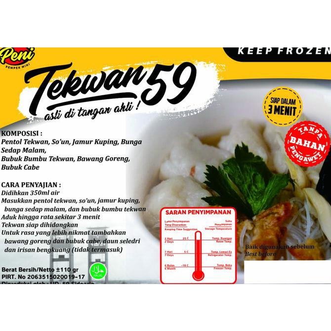 Stiker Usaha Cocok Buat Produk Makanan Frozen