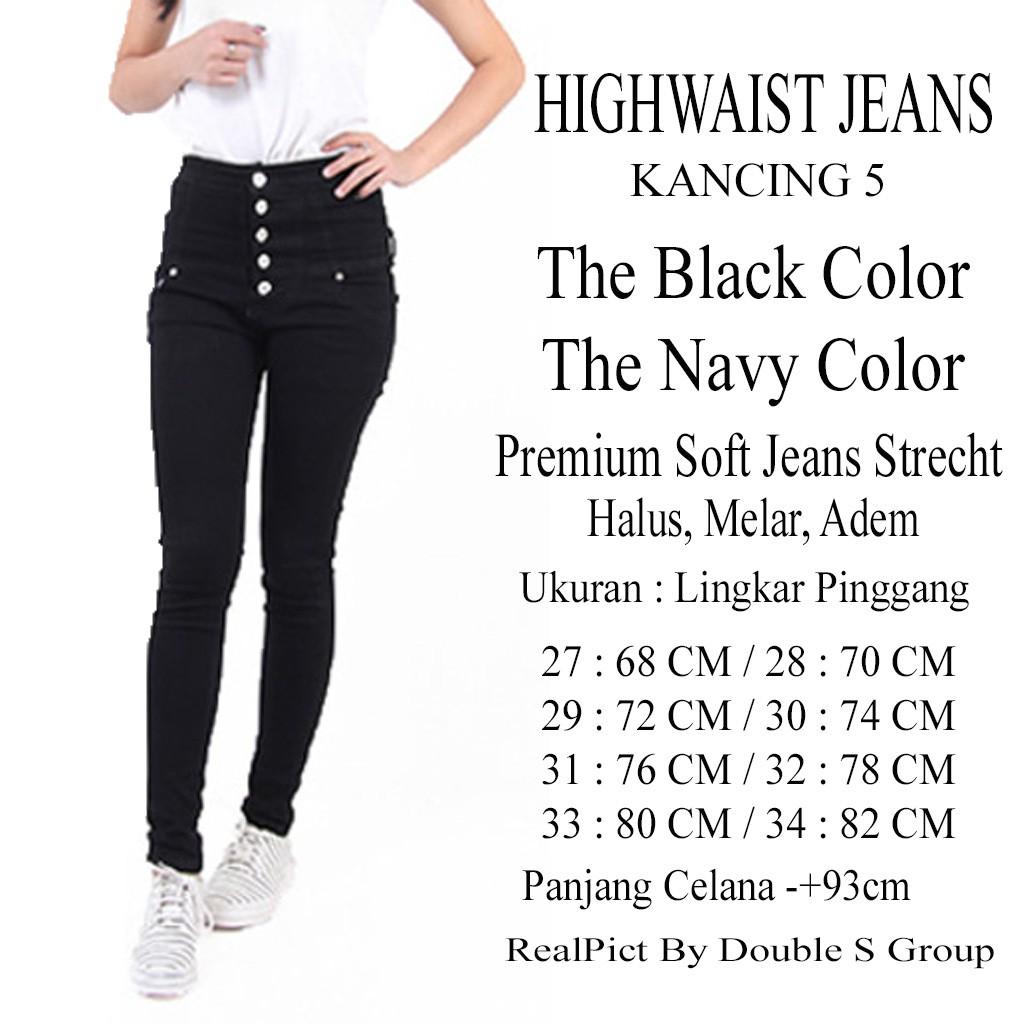 Celana Jeans High Waist Kancing 5 Wanita Merek Prada Shopee Indonesia