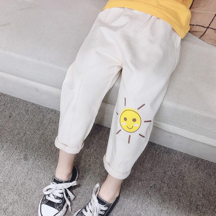 Celana Legging Panjang Casual Gaya Korea Motif Bunga Matahari Untuk Perempuan Shopee Indonesia
