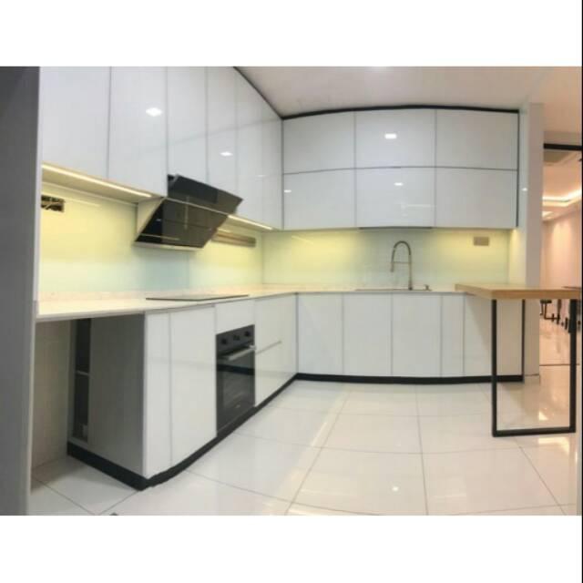 Kitchen Set Aluminium Profile Warna Putih Hitam Silver Shopee Indonesia