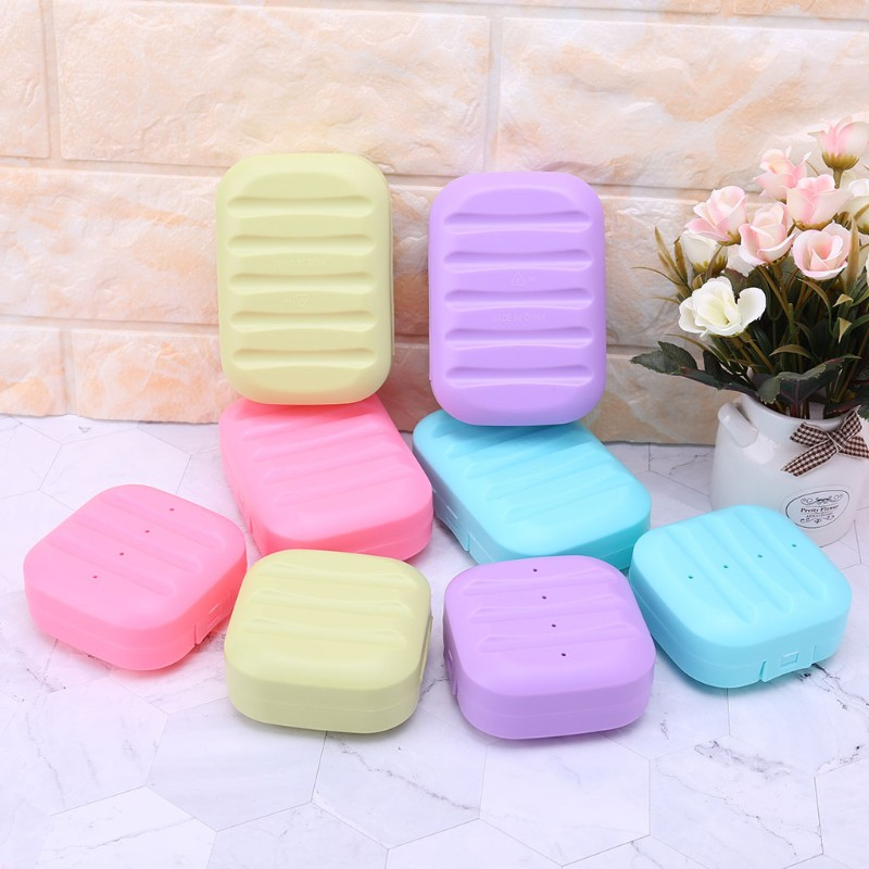 1Pc Bathroom Shower Soap Rose Box Dish Tray Plate Holder Case Container