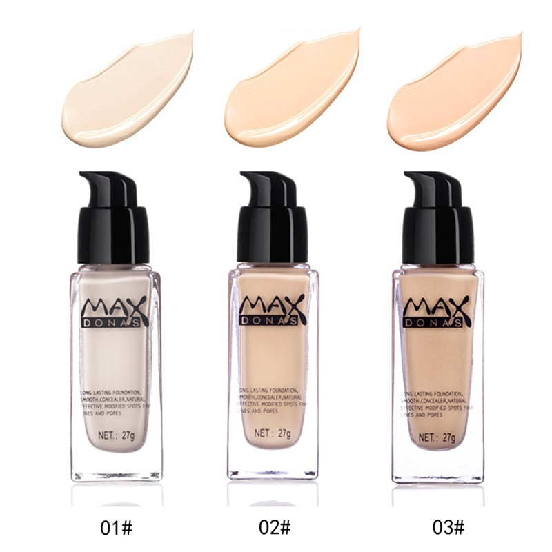 Maxdonas Liquid Foundation Oil Control Base Makeup 27g Foundation 24h Long Lasting Shopee Indonesia