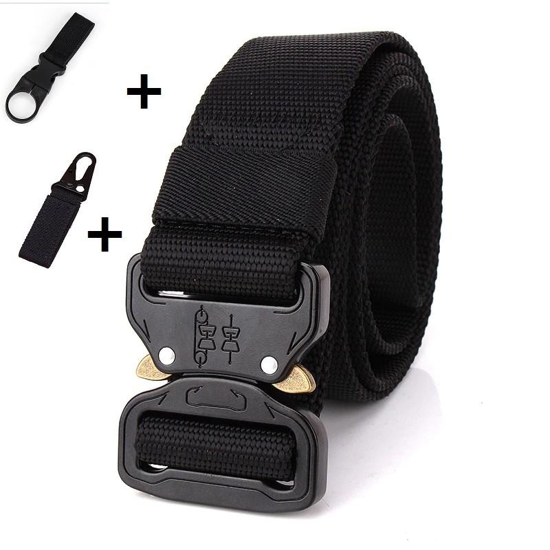 Military Style Tactical Canvas Belt Nylon Men Army Metal Buckle Cinturon Quality
