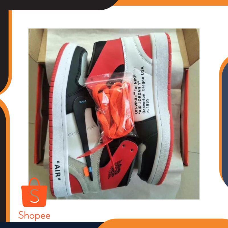 New Ads Sepatu Sneakers Pria Nike Air Jordan Aj1 X Offwhite Triple White Shopee Indonesia