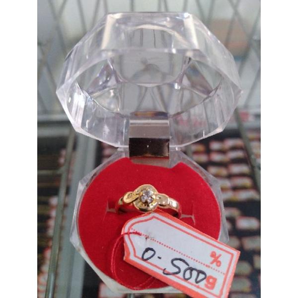 cincin emas asli kadar 300% berat 0.500gram size5