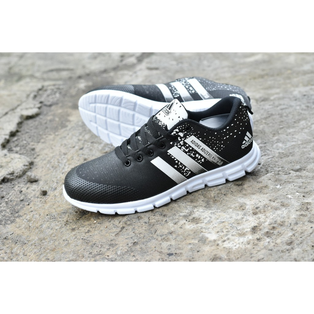 best authentic f9965 5029e BEST SELLER Sepatu Sport Adidas Adizero Knit 2 0 Hitam Putih running  jogging LIMITED EDITION  Shopee Indonesia