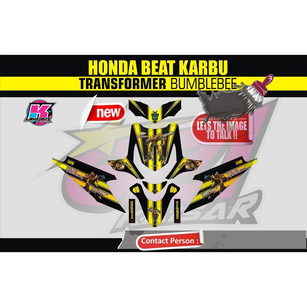 Sticker motor beat karbu bumblebee shopee indonesia