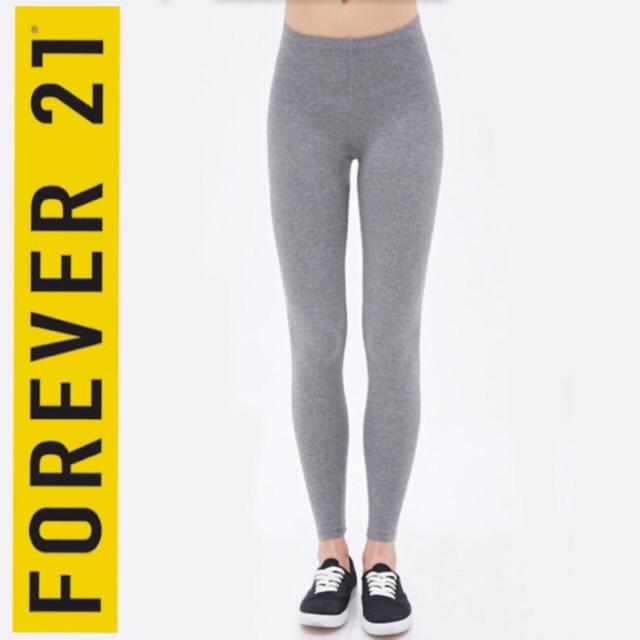 Forever 21 Legging Leggings Heather Grey Wanita Original Murah Shopee Indonesia