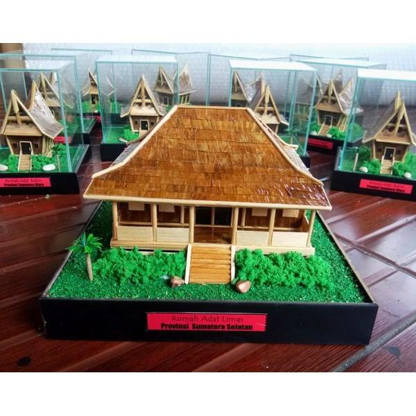 Miniatur Rumah Adat Limas Sumatera Selatan Shopee Indonesia