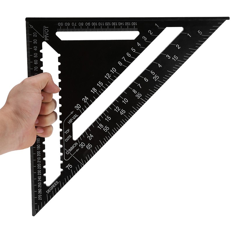 12 inch Roofing Speed Square Aluminium Rafter Angle Measuring Triangle Guide NEW