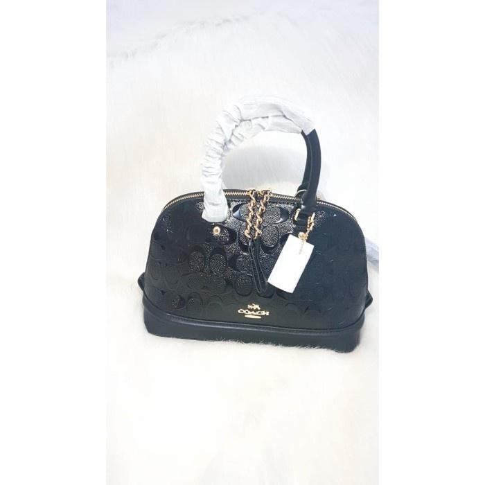 {starstore} Coach Mini Sierra Debossed Patent Leather 55450 Diskon