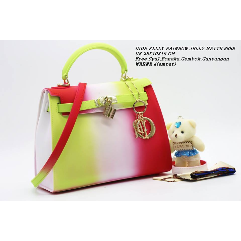 Fygalery FYG-1150 Tas Jelly Kelly Tas Jelly Rainbow Tas Jelly Fashion Tas  Trendy  3552d9ebb0