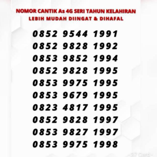 Nomor cantik As 4G telkomsel seri tahun kelahiran | Shopee Indonesia