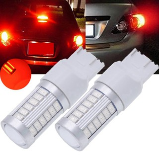 7443 Lampu LED T20 900 Lumens Super Terang Warna Merah untuk Sinyal Rem / Parkir / Sein