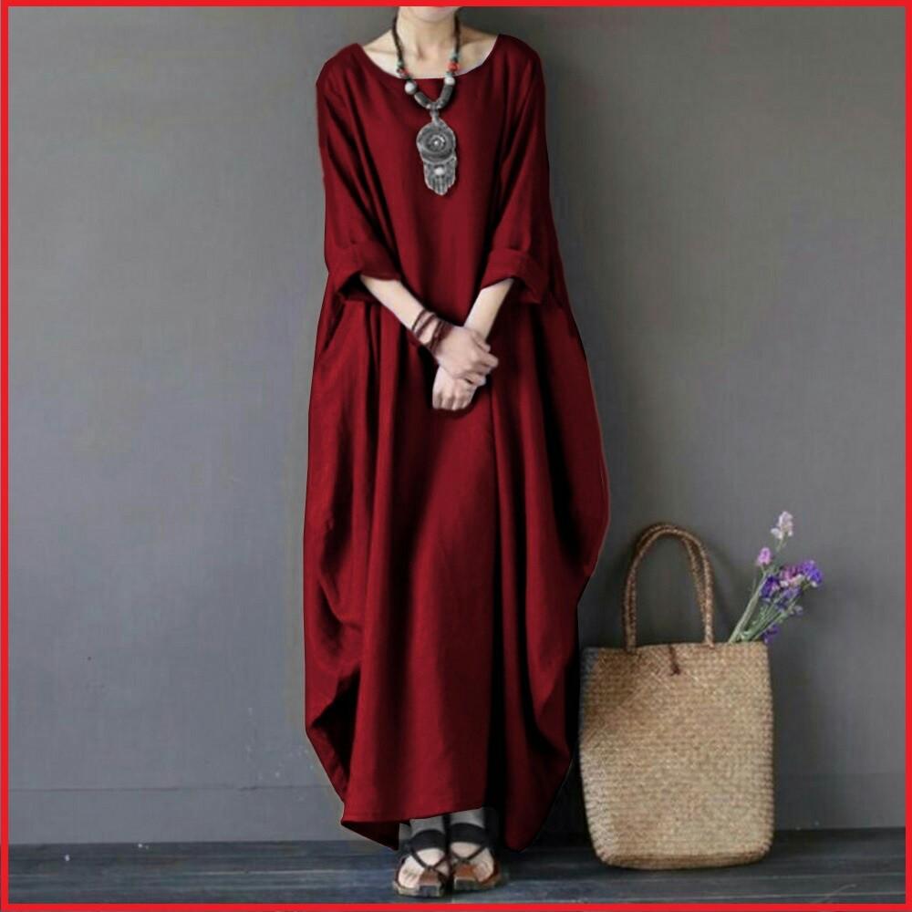 Baju Busana Muslim Gamis Murah Mx Leaf Maroon Tosca Vos Shopee Longdress Syana Indonesia
