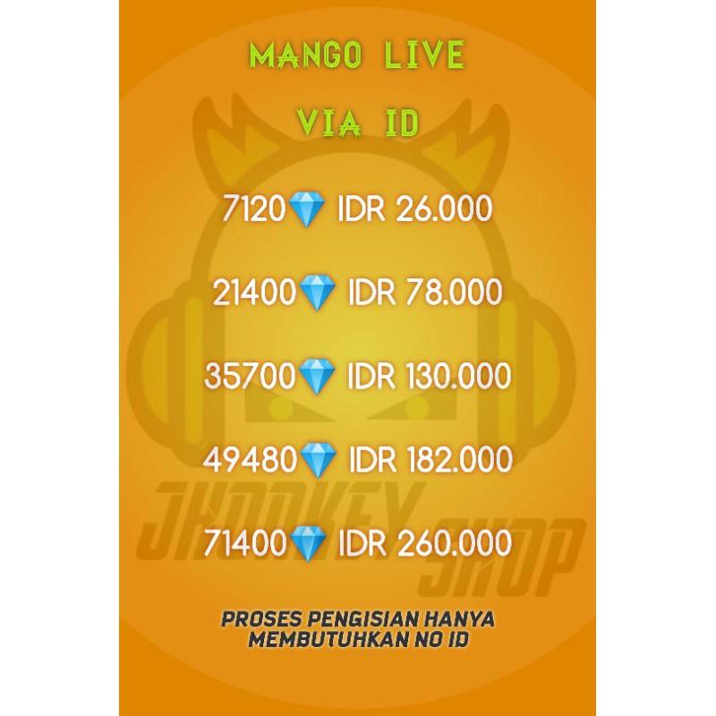 TOP UP DIAMOND MANGO LIVE VIA ID [ TERMURAH ]