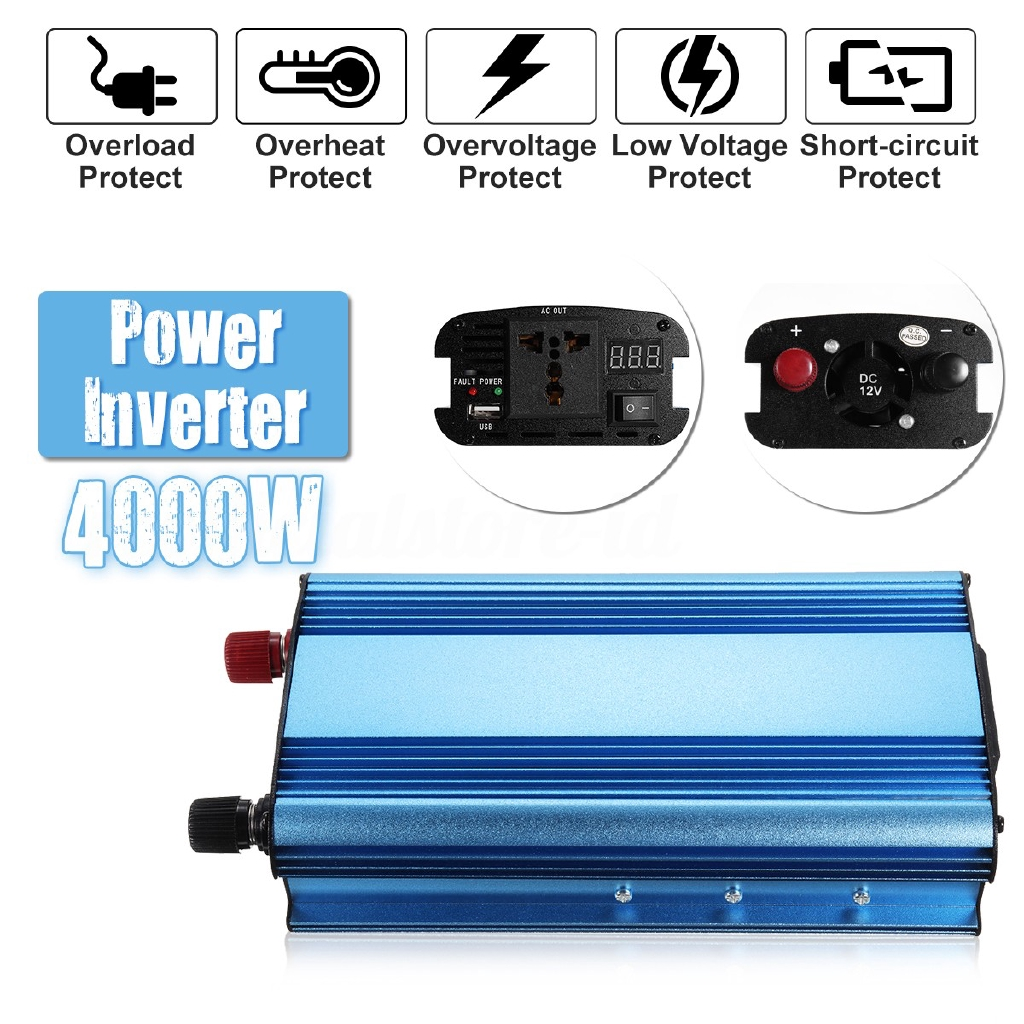 4000W Converter Power Inverter DC 12 / 24 / 48 / 60 to AC 220V Modified  Sine Wave